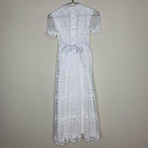 Hollywood Dresses - First Holy Communion Dress - Satin & Lace w Pearls